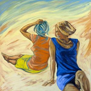 Arenas Movedizas. | Óleo sobre lienzo, 150 x 150 cm