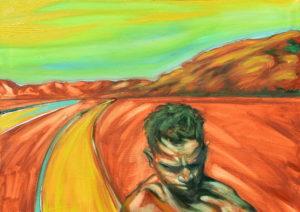 Bajando la Loma. | Óleo sobre lienzo, 45 x 61cm