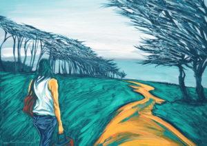 Camino sinuoso. | Óleo sobre lienzo, 45 x 61 cm