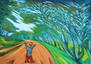 Hundido. | Óleo sobre lienzo, 45 x 61 cm