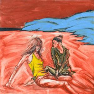 Playa Roja. | Óleo sobre lienzo, 40 x 40 cm