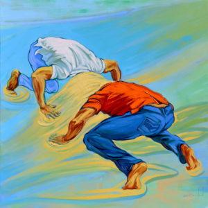 Resistencia. | Mixta sobre lienzo, 150 x 150 cm