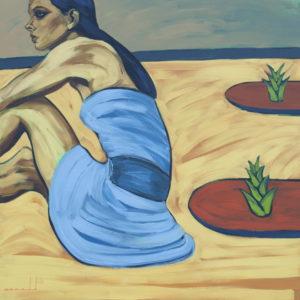 Sobrevivientes. | Óleo sobre lienzo, 100 x 100 cm